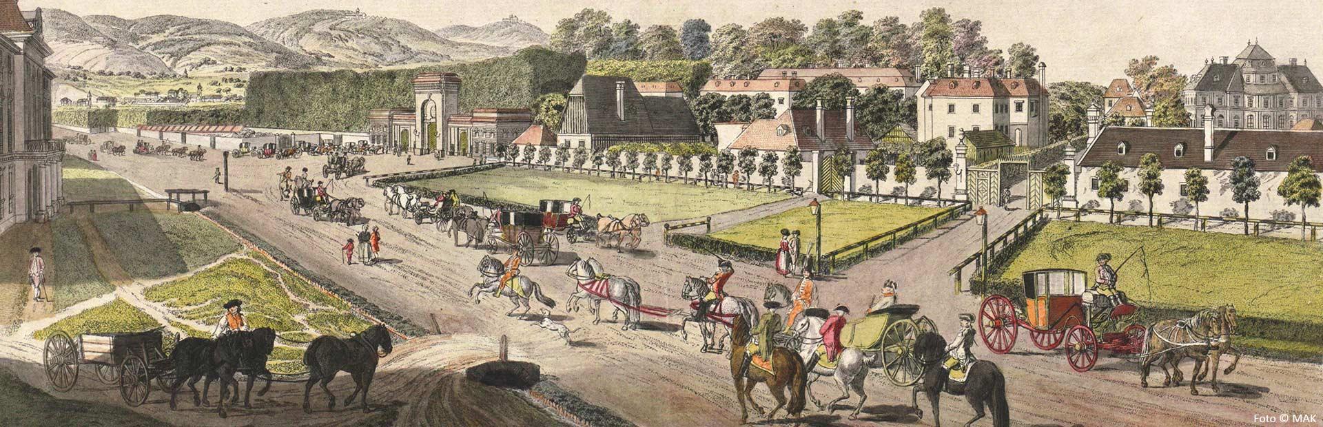 Johann Ziegler Zu und Eingang in Augarten (1782)